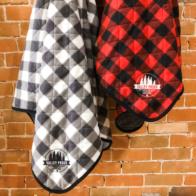 Buffalo Plaid Blanket - Red & Black