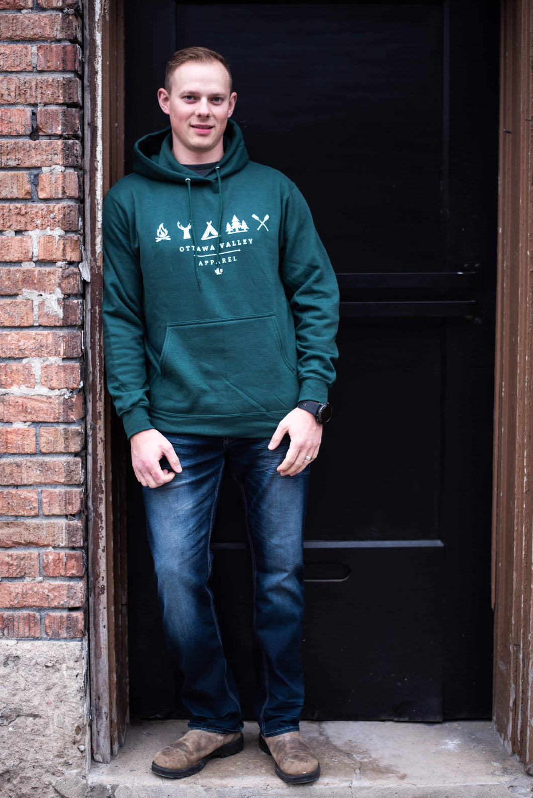 OVA Elements Hoodie - Forest Green