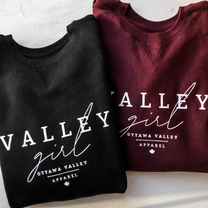 Valley Girl Classic Crew - Black
