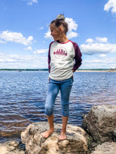Valley Proud Youth Long Sleeve - Oatmeal & Burgundy