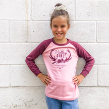 Valley Girl Toddler Baseball Tee - Pink & Burgundy
