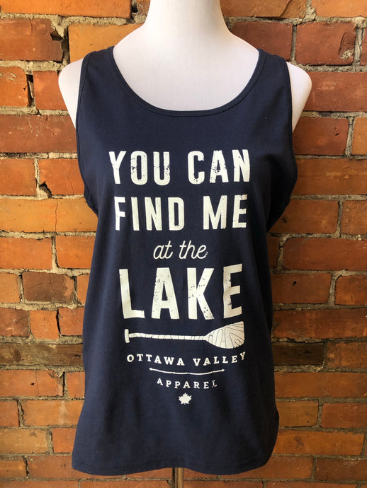 Lake Women's Tank - Navy