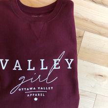 Valley Girl Classic Crew - Burgundy