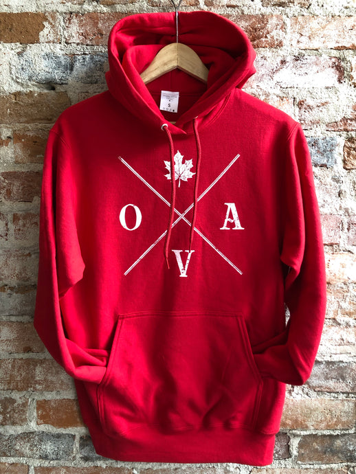 OVA Arrow Hoodie - Cherry Red