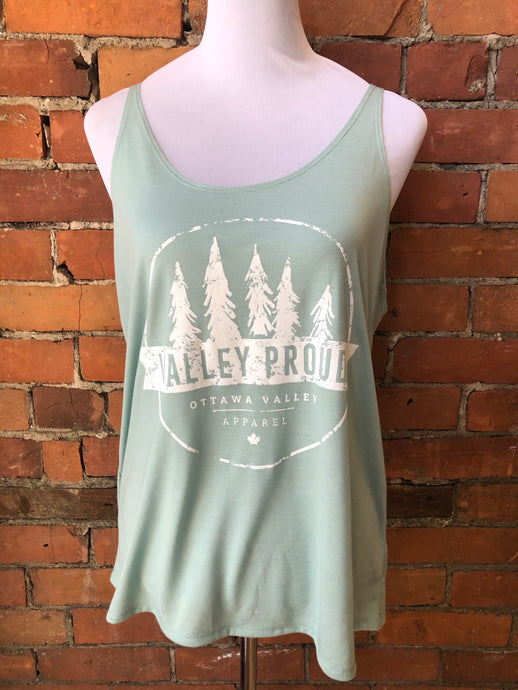 Classic Valley Proud Women's Slouchy Tank - Mint