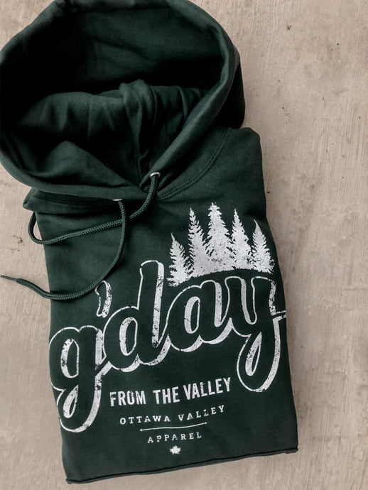 G'Day Hoodie - Forest Green
