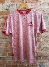 Valley Proud Maple Leaf Men's Henley Tee - Cherry Red