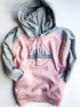 Valley Proud Youth Hoodie - Pink & Grey