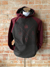 OVA Arrow Hoodie - Burgundy & Charcoal