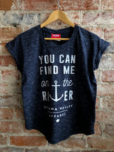 River Women's Slouchy Tee - Heathered Navy