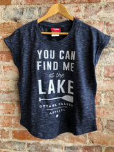 Lake Women's Slouchy Tee - Heathered Navy
