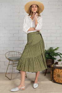 Dot Ruffle Skirt
