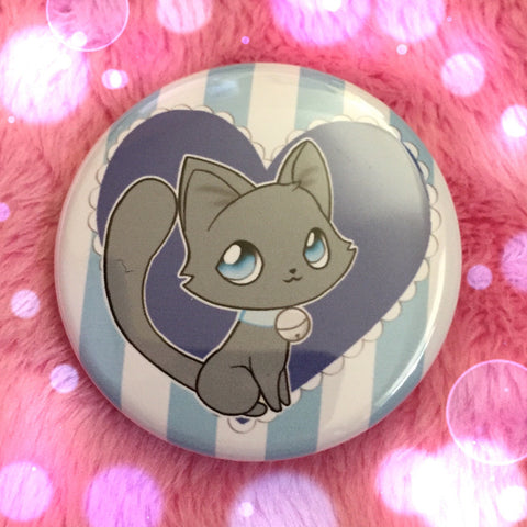 Russian Blue Love Button
