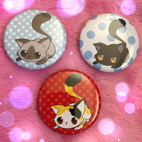 Ready to Pounce Buttons - Set of 3