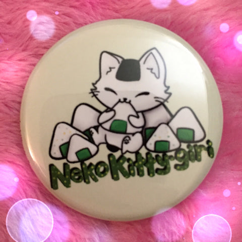 Neko Kitty-Giri Button