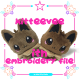 ITH Kitteevee plush 4x4 Embroidery File