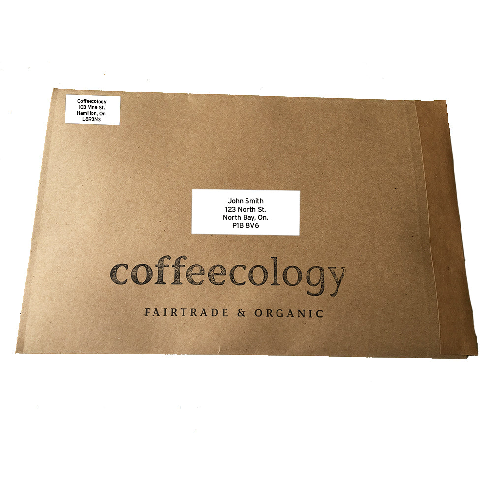Fresh roasted coffee mailer delivered across canada.