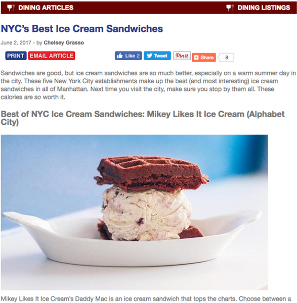 NYC's Best Ice Cream Sandwich!
