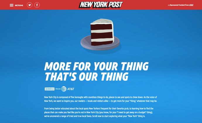 New York Post-More For Your Thing That's Our Thing