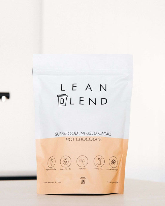 Superfood Infused HOT CHOCOLATE - 24 sachets - Lean Blend