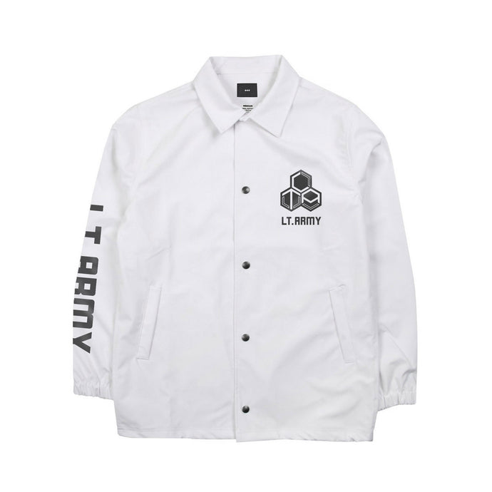 LT. ARMY™ | BIOHAZARD COACH JACKET (WHITE) LIMITED EDITION