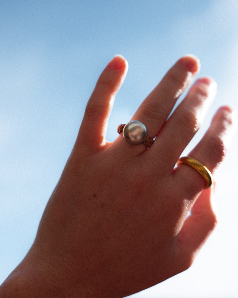Golden South Sea Ring