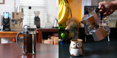 french press moka pot