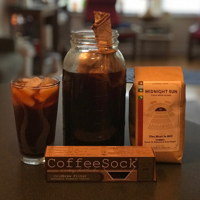 CoffeeSock® DIY ColdBrew Half-Gallon Filter and Midnight Sun Bundle