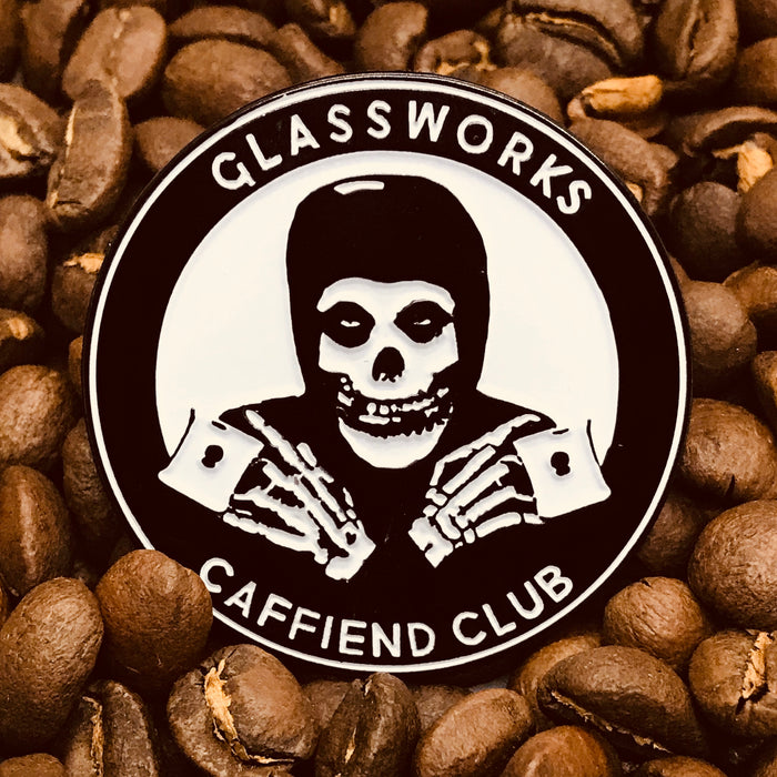 Glassworks Caffiend Club Enamel Pin