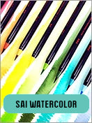 SAI Watercolor Bruch Markers