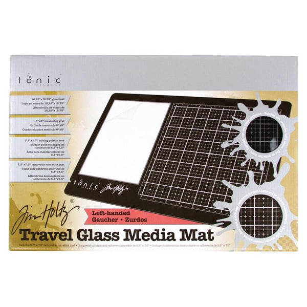 Tim Holtz Travel Glass Mat Left-Handed