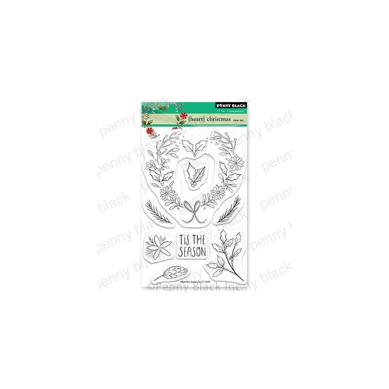 Penny Black Clear Stamps Heart Christmas