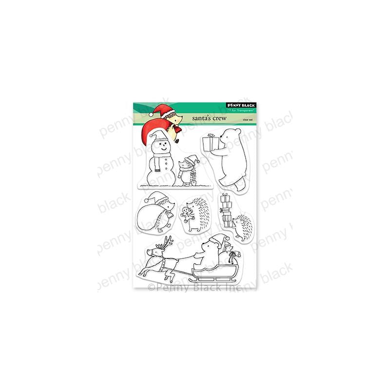 Penny Black Clear Stamps Santa's Crew