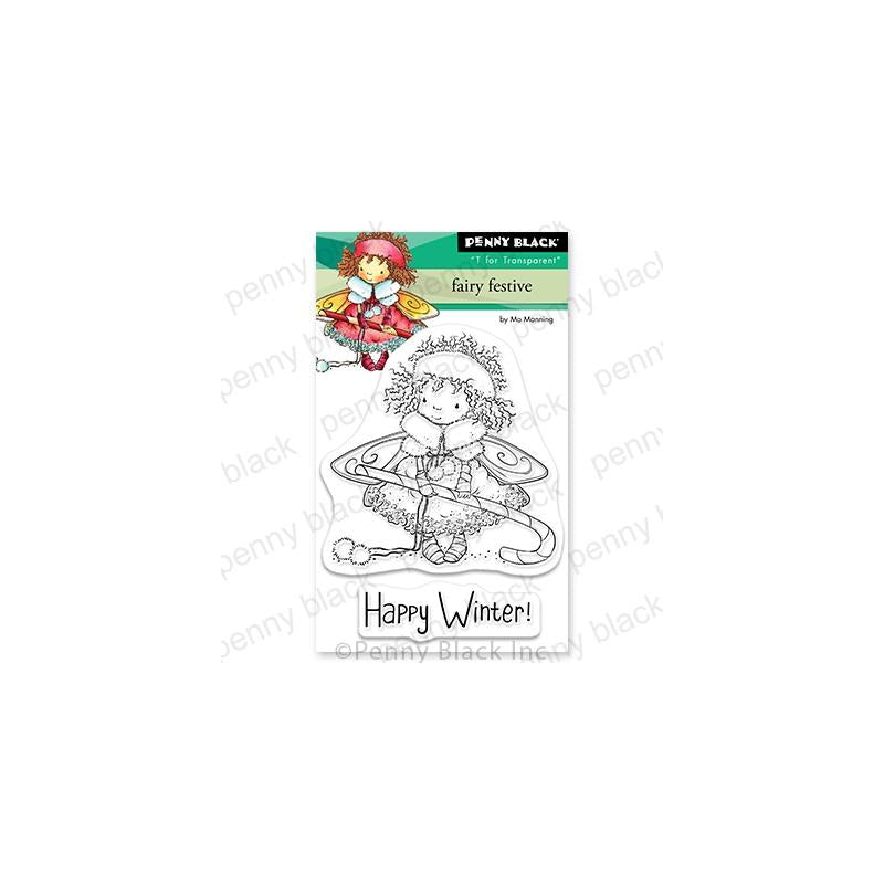 Penny Black Clear Stamps Fairy Festive