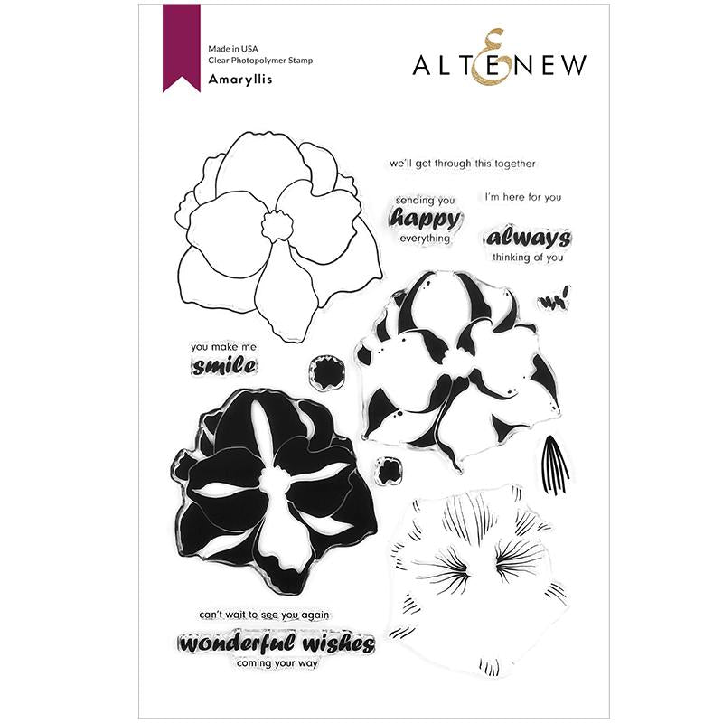 Altenew Clear Stamps Amaryllis