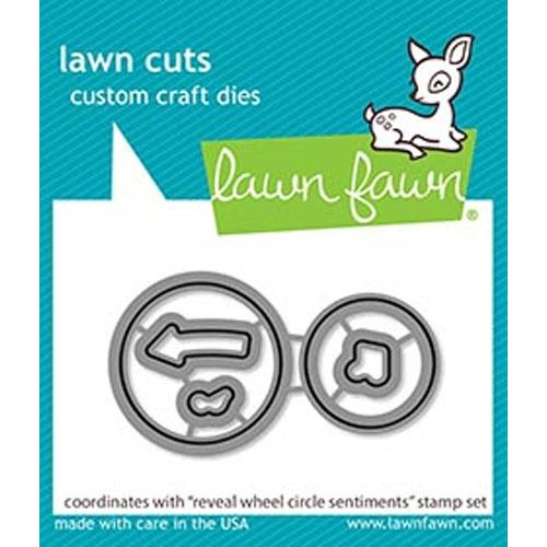 Lawn Fawn Dies Reveal Wheel Circle Sentiments