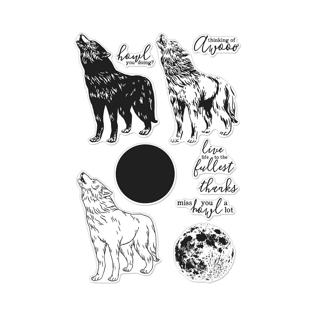 Hero Arts Clear Stamps Howling Wolf