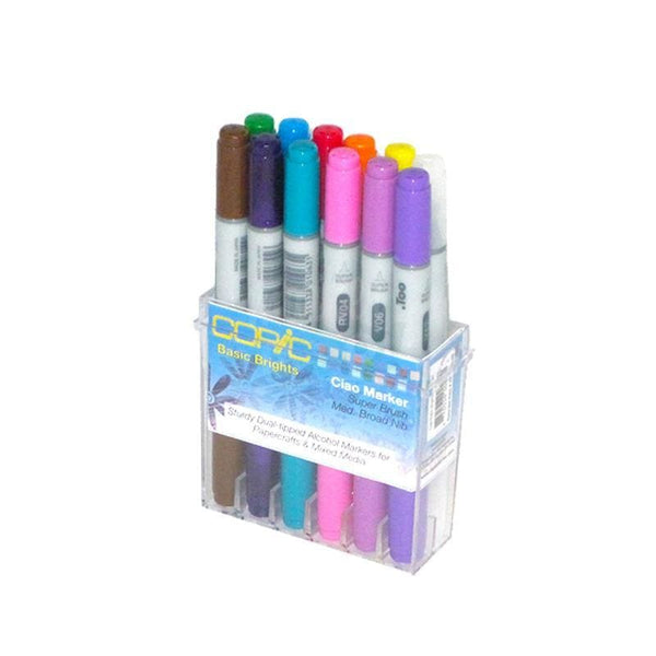 Copic Ciao Marker 12Pc Basic Bright Markers