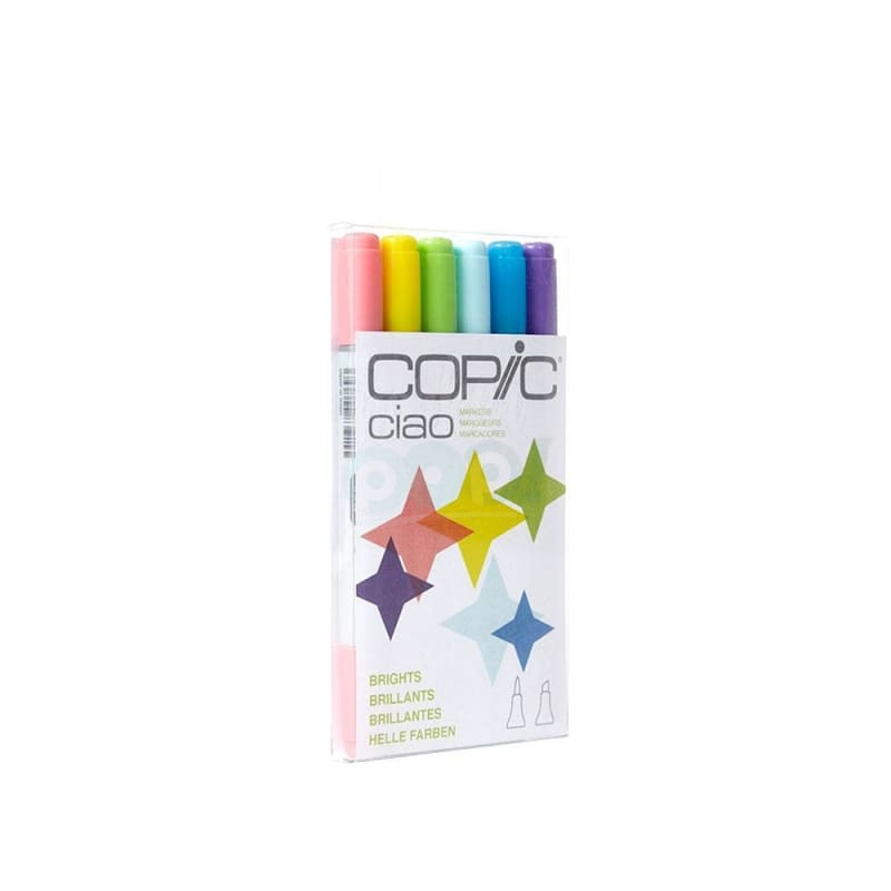 Copic Ciao Marker 6Pc Brights Markers