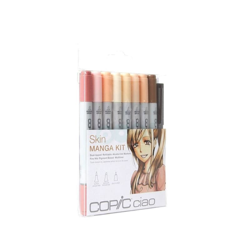 Copic Ciao Marker 8Pc Manga Skin Markers