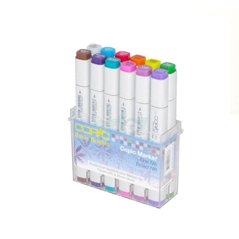 Copic Original Marker 12Pc Basic Bright Markers