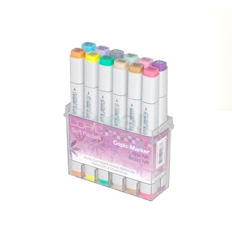 Copic Original Marker 12Pc Soft Pastels Markers