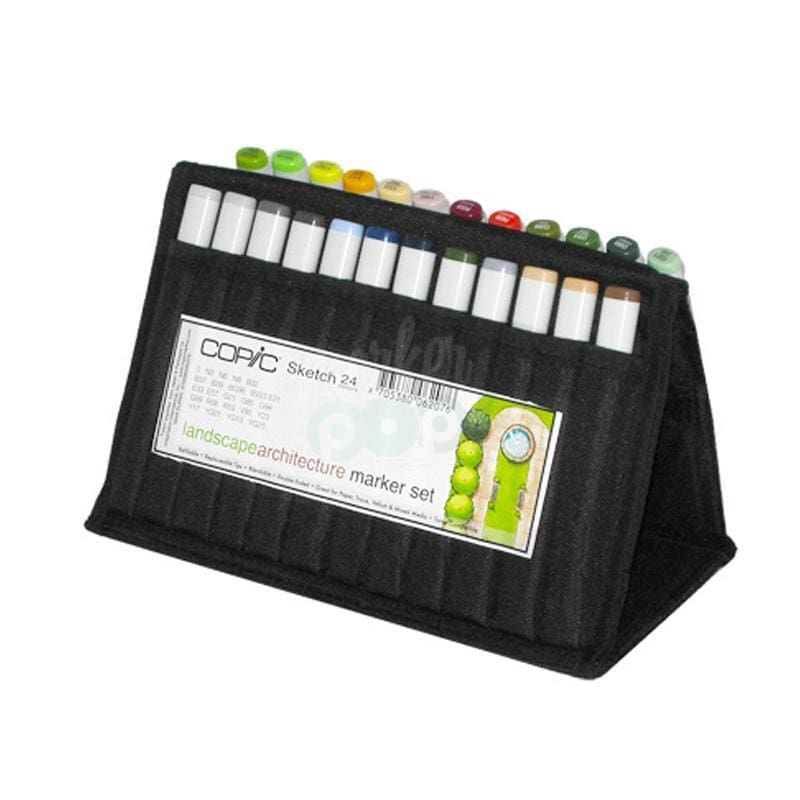 Copic Sketch Marker 24Pc Wallet Landscape Architecture Markers