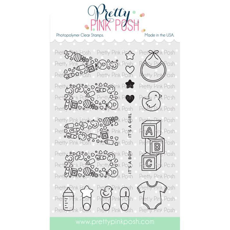 Pretty Pink Posh Clear Stamps Baby