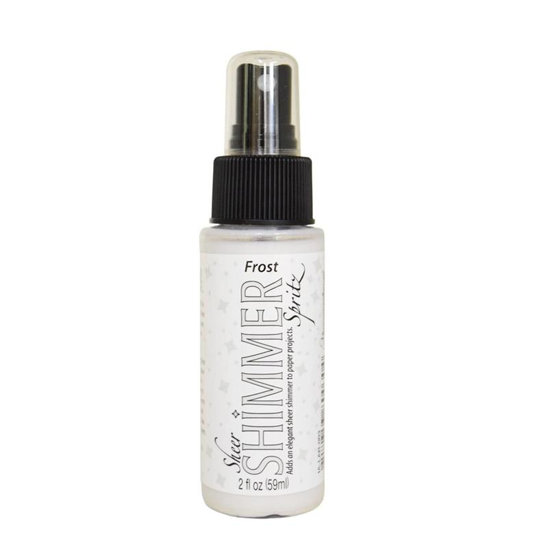 Tsukineko Sheer Shimmer Spritz Spray 2oz - Frost