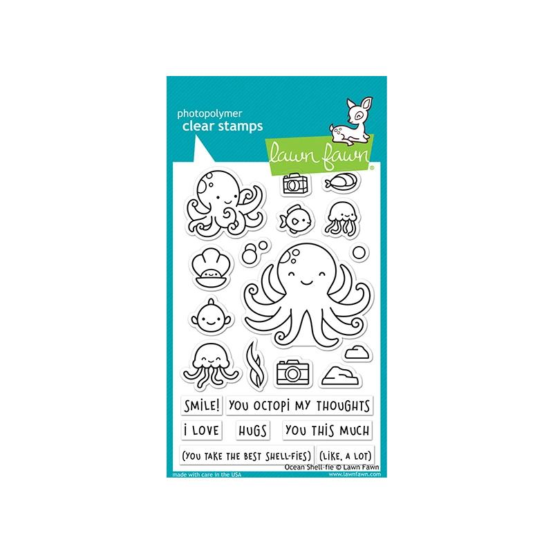 Lawn Fawn Clear Stamps Ocean Shell-fie