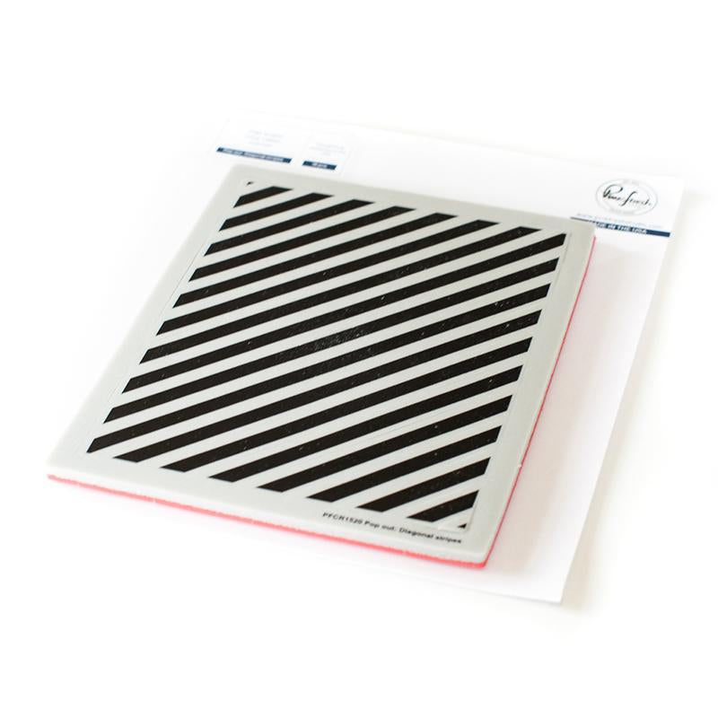 Pinkfresh Studio Cling Stamps Pop Out Diagonal Stripes