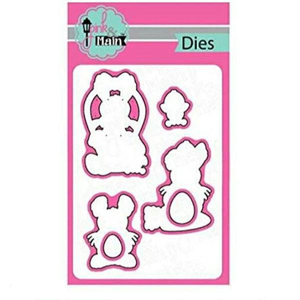 Pink & Main Cutting Die Set - Hoppy Easter
