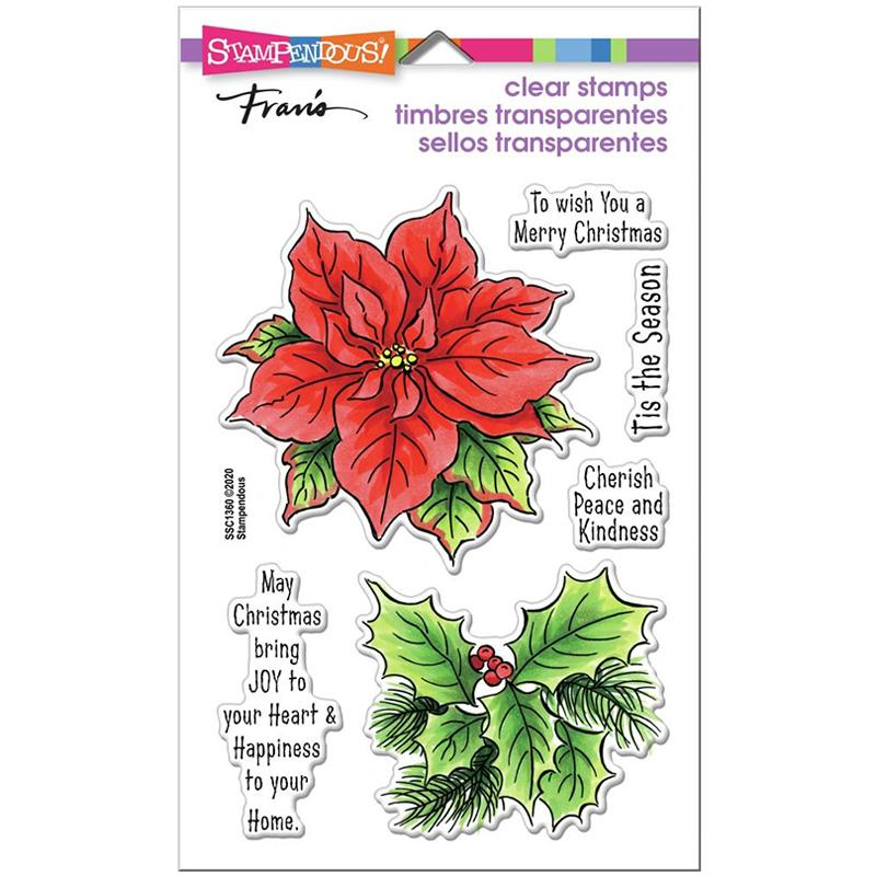 Stampendous Clear Stamps Poinsettia Season