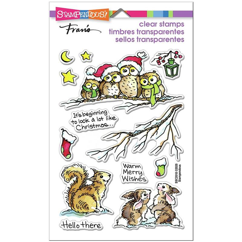 Stampendous Clear Stamps Critter Christmas